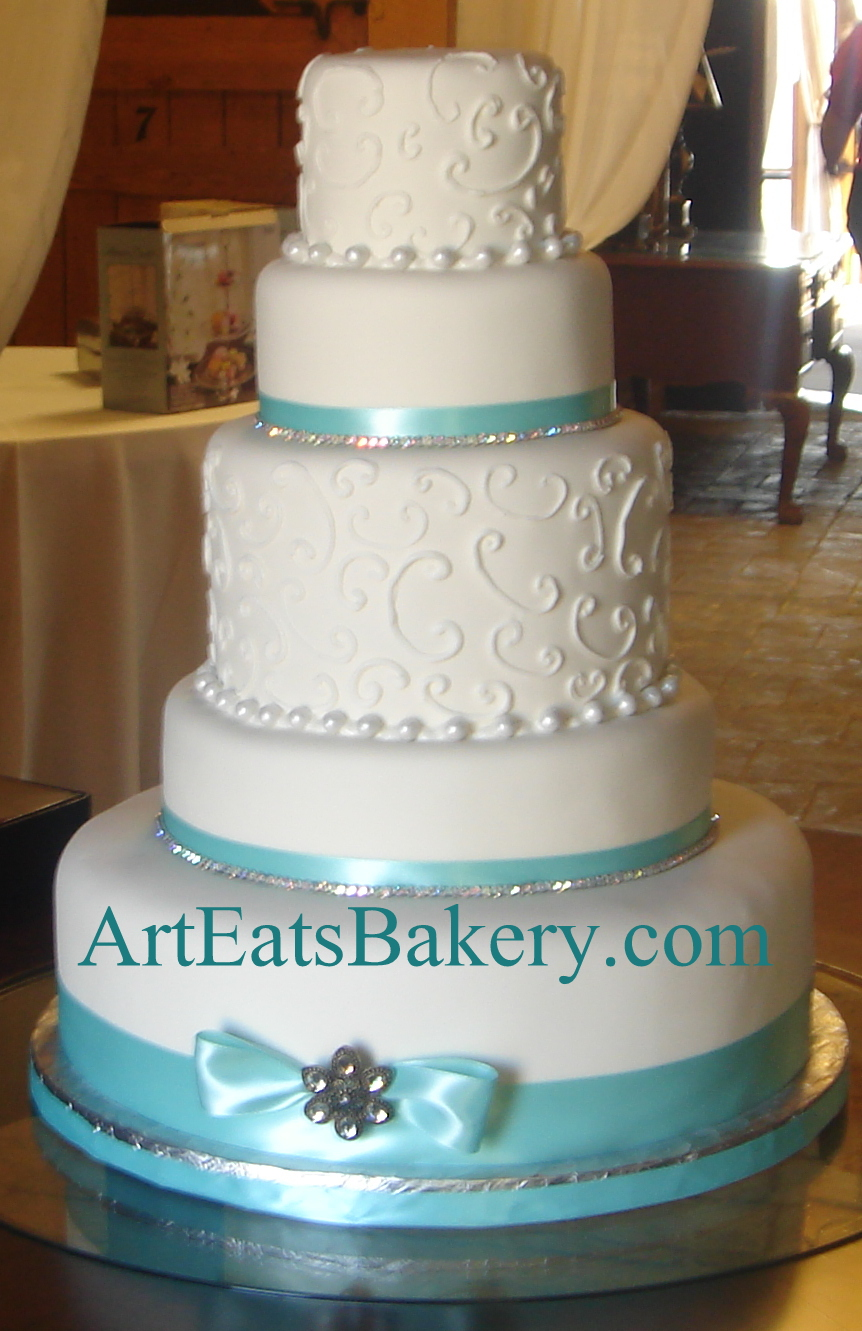Tiffany Blue Cake Design : Art Eats Bakery custom fondant wedding and birthday cake ...
